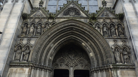 front gate of St Giles' Cathedral in Edinburgh