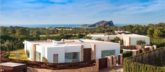 exterior of luxury villa 33Calaconta, first gated community in Ibiza