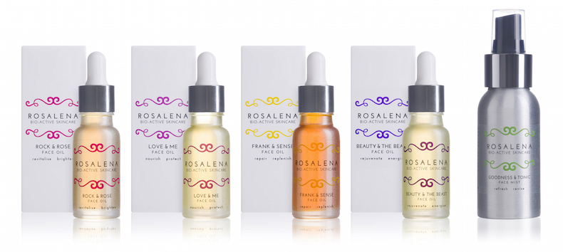 Rosalena Skincare face oils collection and face spray luxury lifestyle