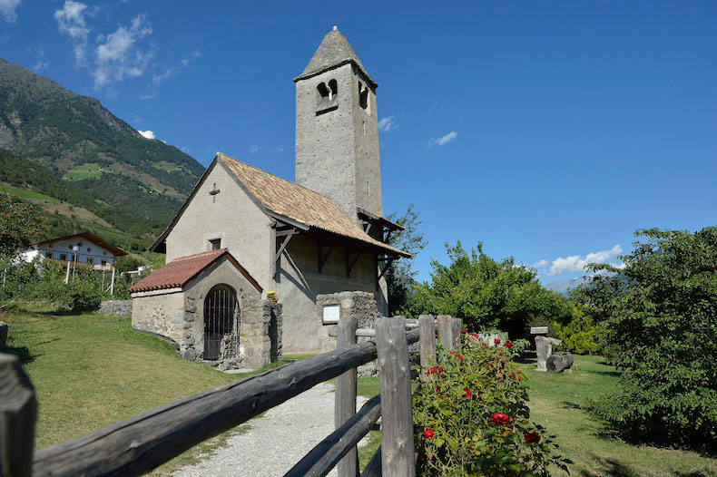 The Prokulus Kirche Church in Naturno, Italy