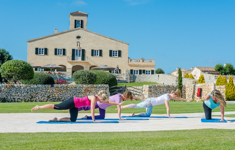Pilates with Bernadette Phillips on The Gut Makeover Retreat at Cugó Gran in Menorca
