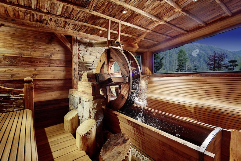 Water Mill Sauna at Hotel Quelle Nature Spa