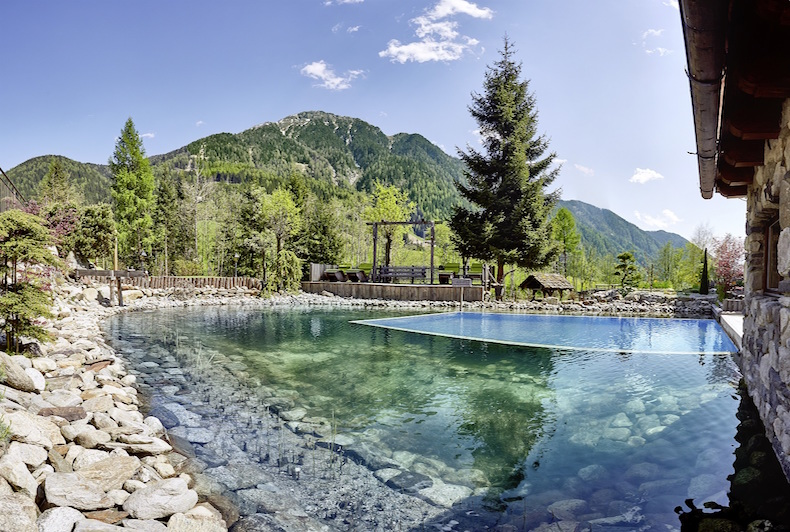 Biological Bathing Pool at Hotel Quelle in South Tyrol Italy